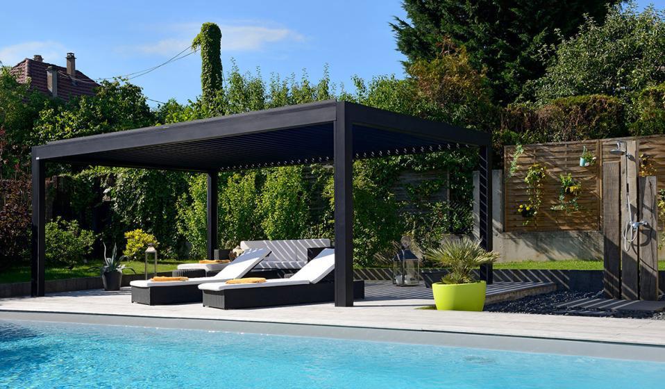 pergola piscine. Black Bedroom Furniture Sets. Home Design Ideas
