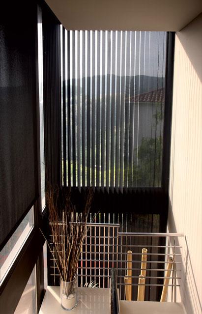 Store intérieur vertical